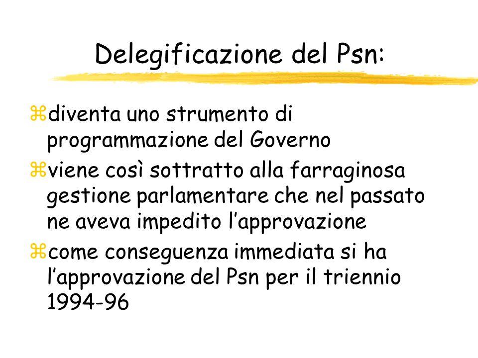 Delegificazione del Psn: