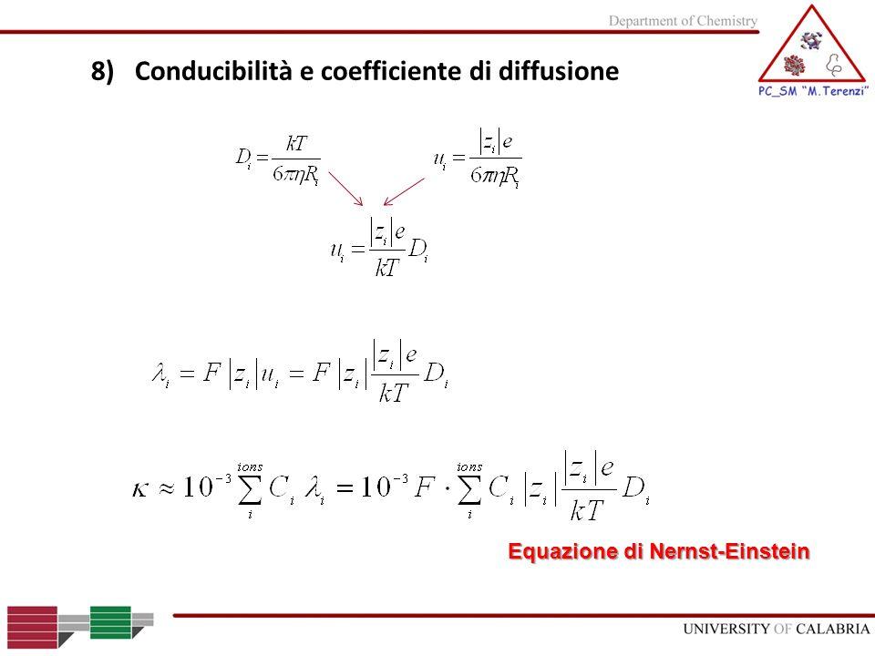 8) Conducibilità e coefficiente di diffusione