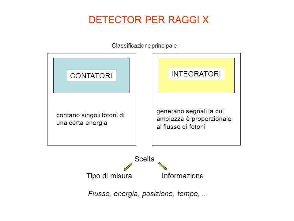 DETECTOR PER RAGGI X CONTATORI INTEGRATORI Scelta Tipo di misura