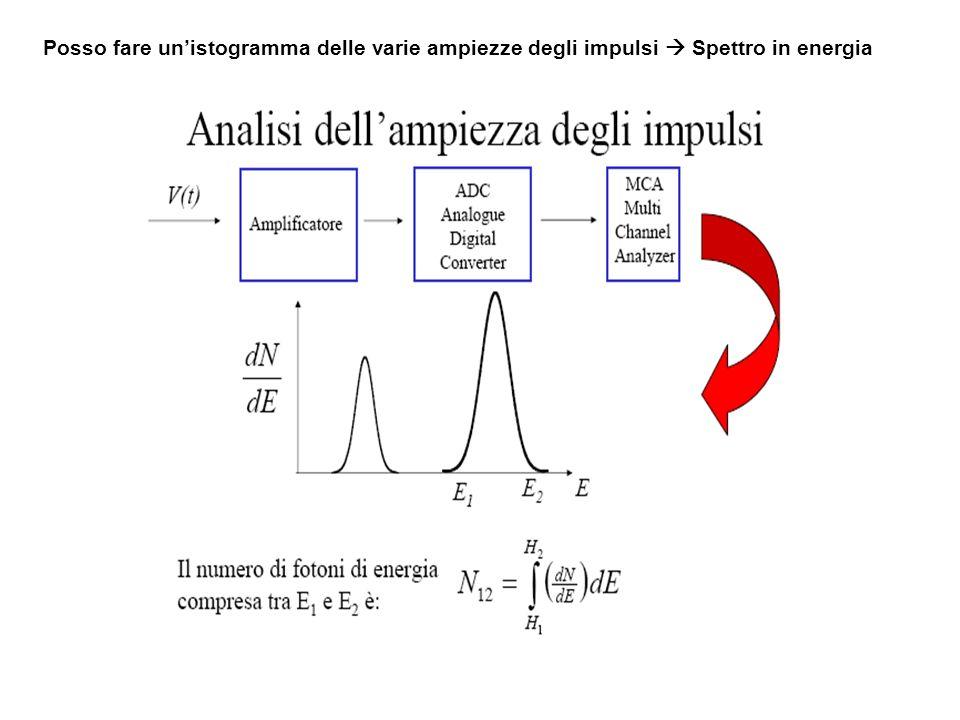 Posso fare un'istogramma delle varie ampiezze degli impulsi  Spettro in energia