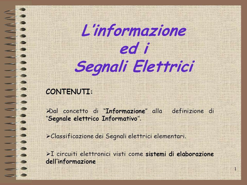L'informazione ed i Segnali Elettrici