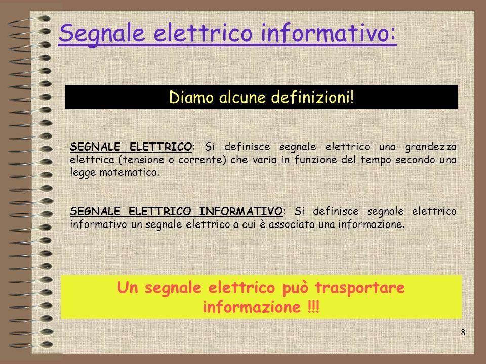 Segnale elettrico informativo: