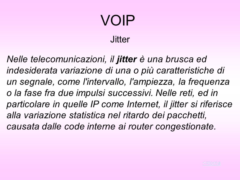 VOIP Jitter.
