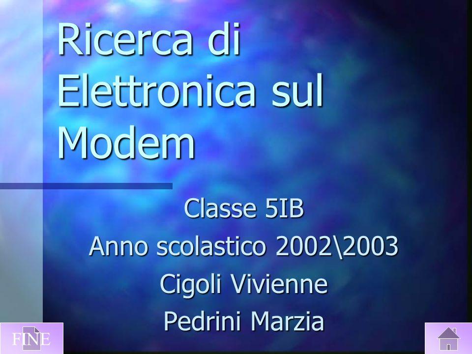 Ricerca di Elettronica sul Modem