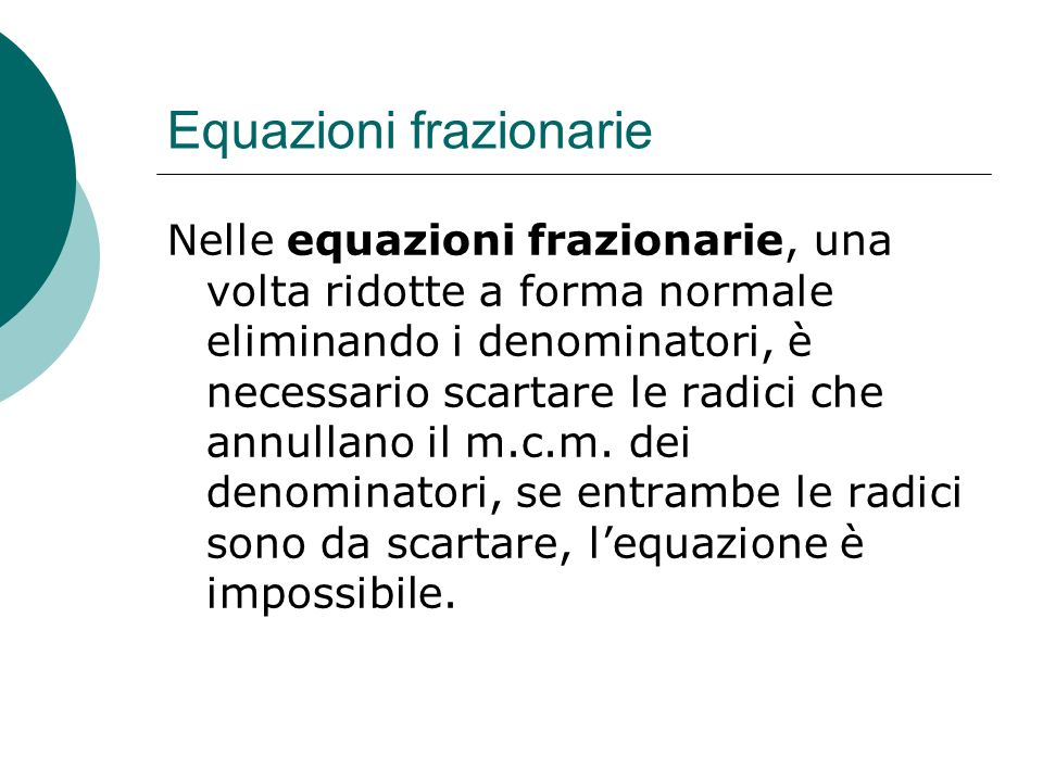Equazioni frazionarie