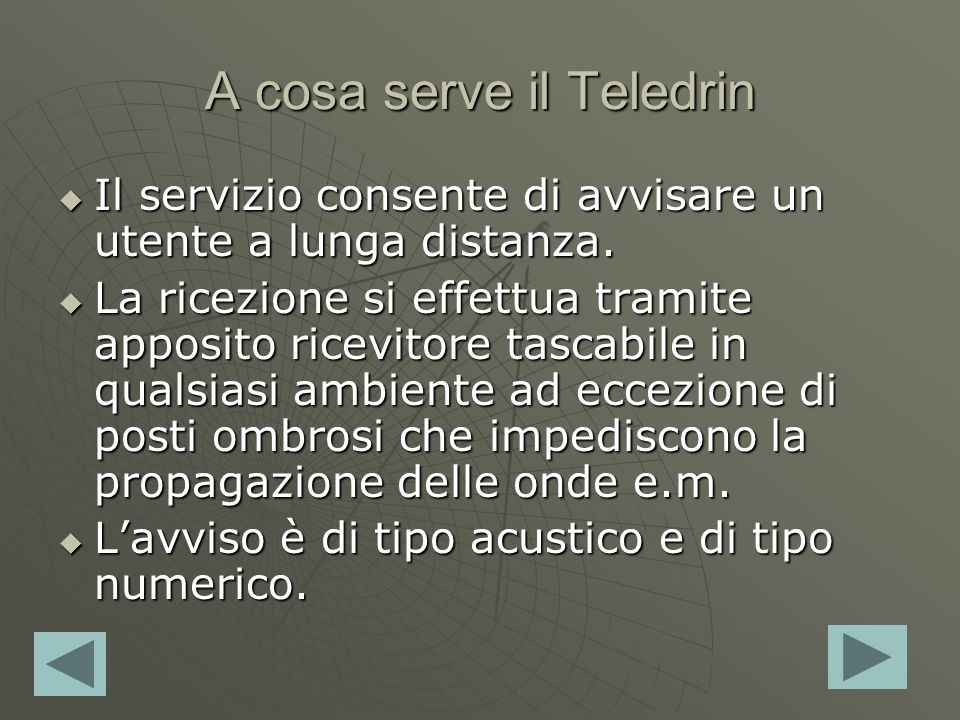 A cosa serve il Teledrin