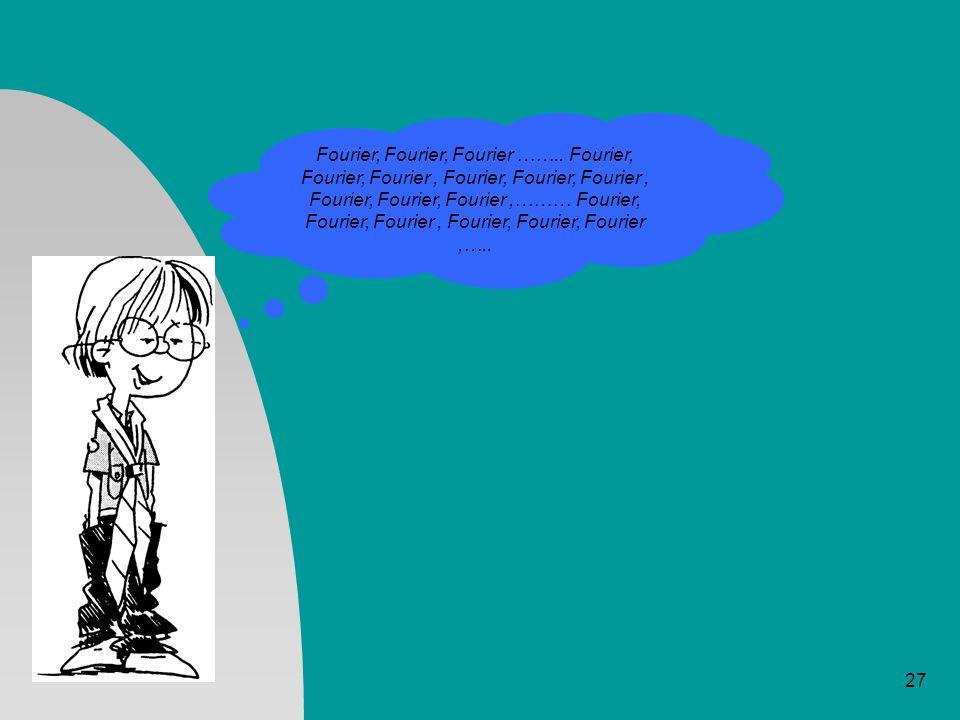 Fourier, Fourier, Fourier ……