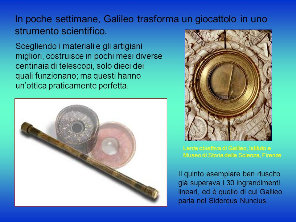 In poche settimane, Galileo trasforma un giocattolo in uno strumento scientifico.