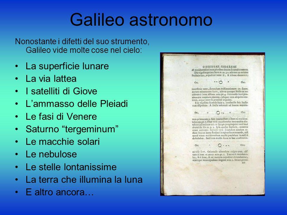 Galileo astronomo La superficie lunare La via lattea