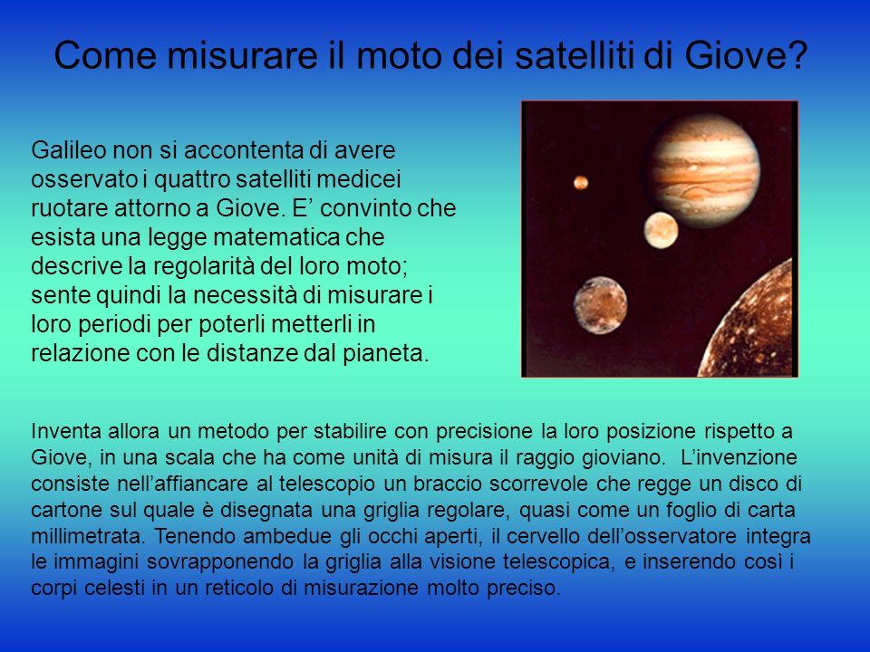 Come misurare il moto dei satelliti di Giove