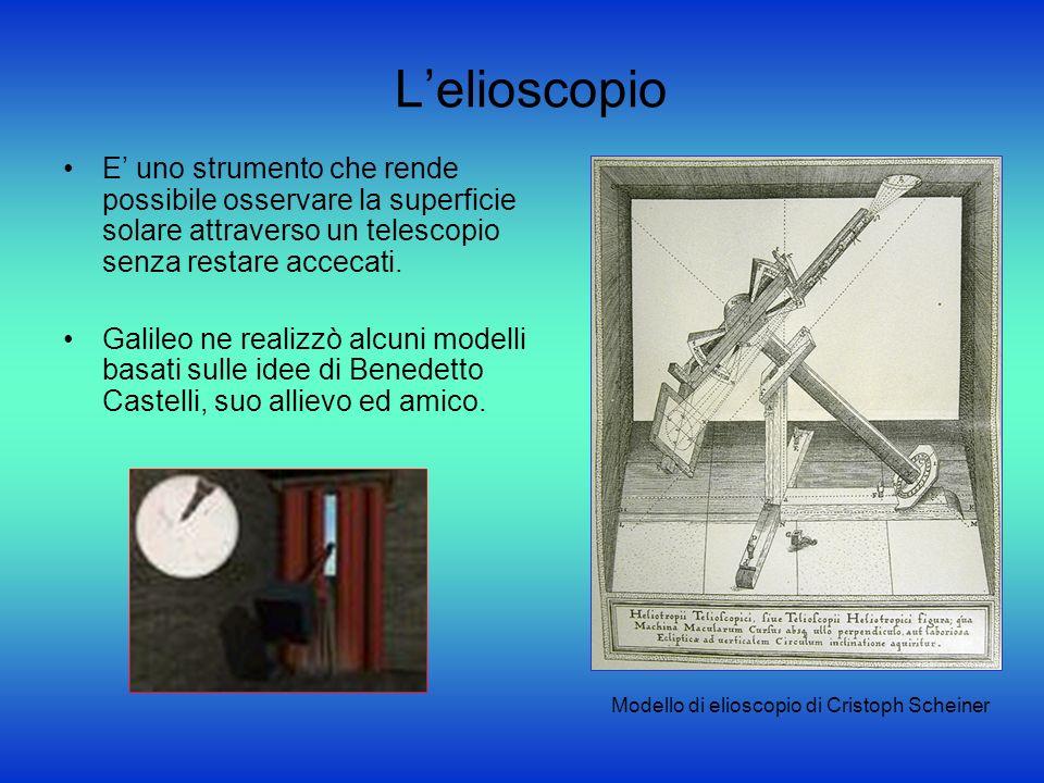 L'elioscopio E' uno strumento che rende possibile osservare la superficie solare attraverso un telescopio senza restare accecati.