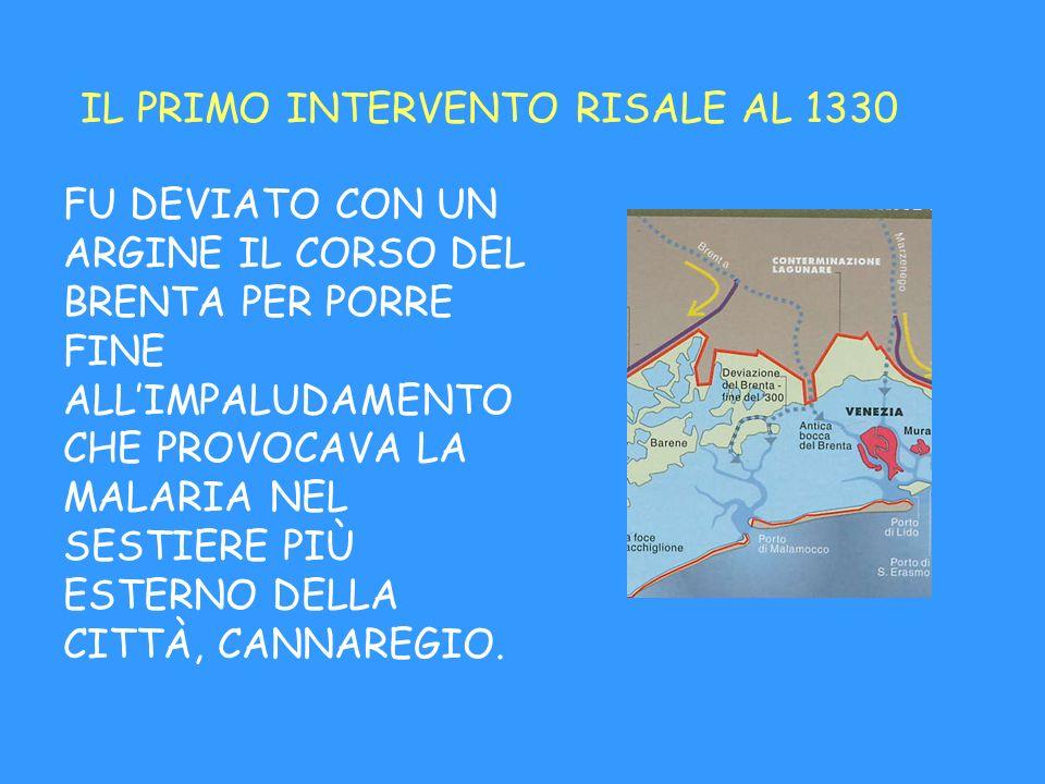 IL PRIMO INTERVENTO RISALE AL 1330