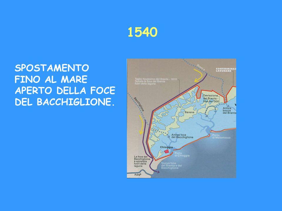 1540 SPOSTAMENTO FINO AL MARE APERTO DELLA FOCE DEL BACCHIGLIONE.