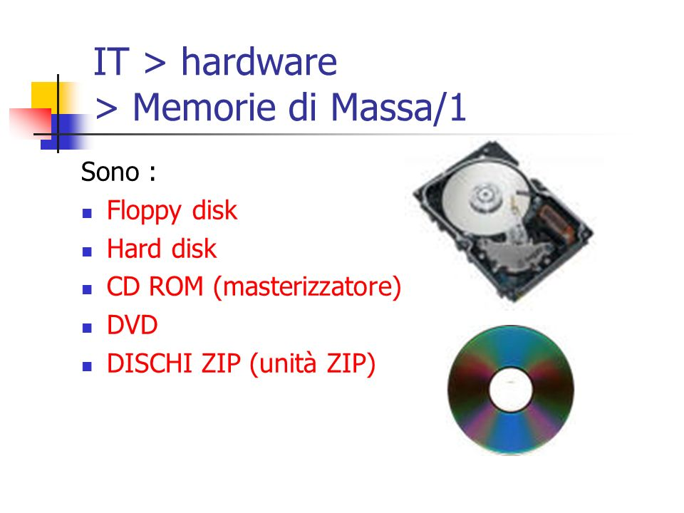 IT > hardware > Memorie di Massa/1