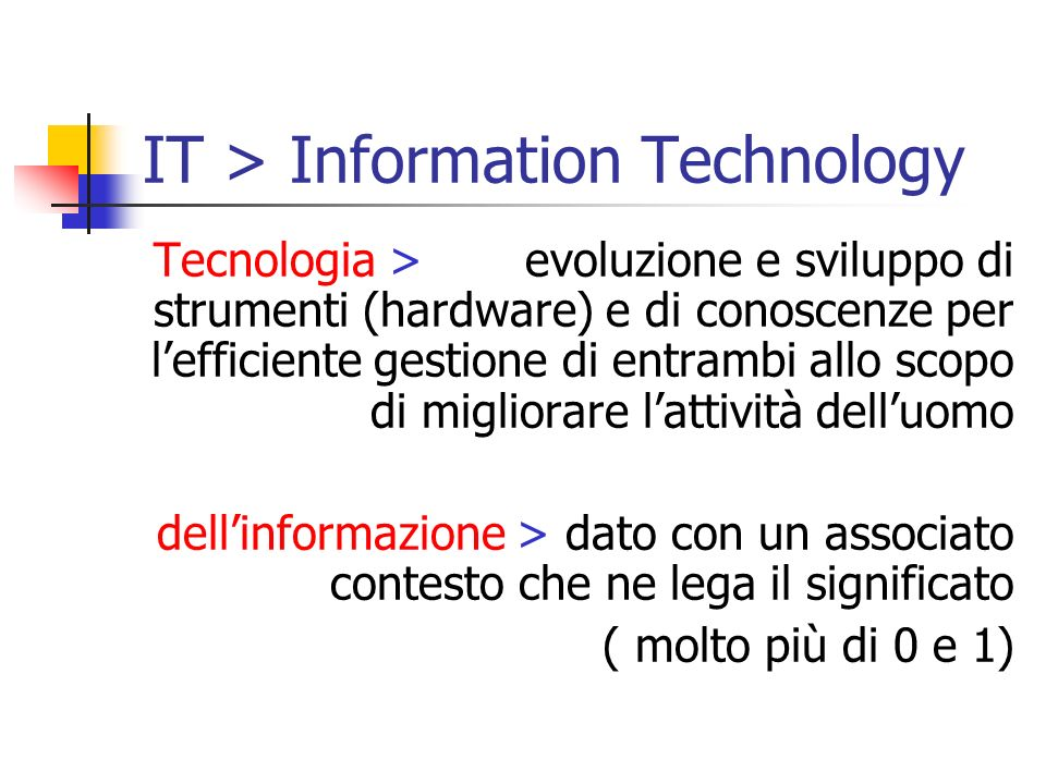 IT > Information Technology