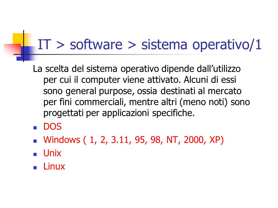 IT > software > sistema operativo/1