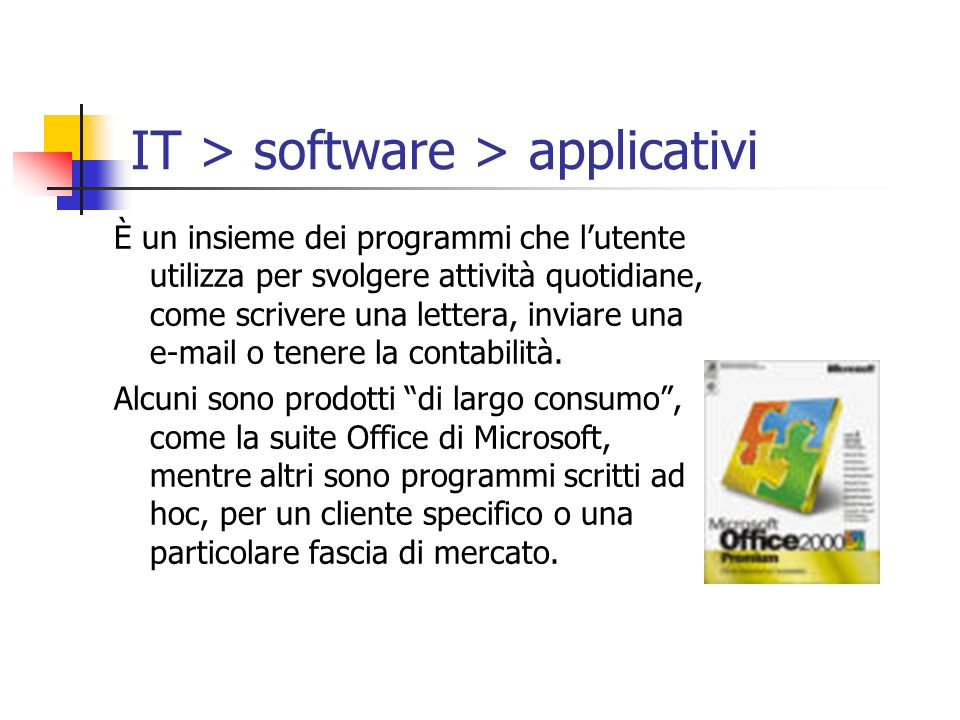 IT > software > applicativi