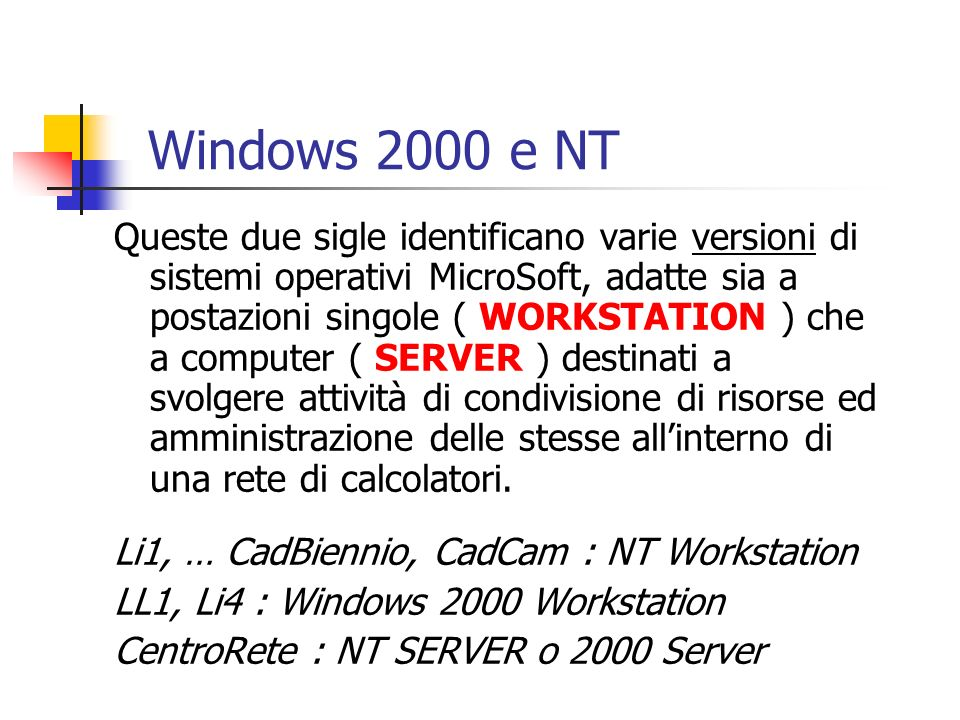 Windows 2000 e NT
