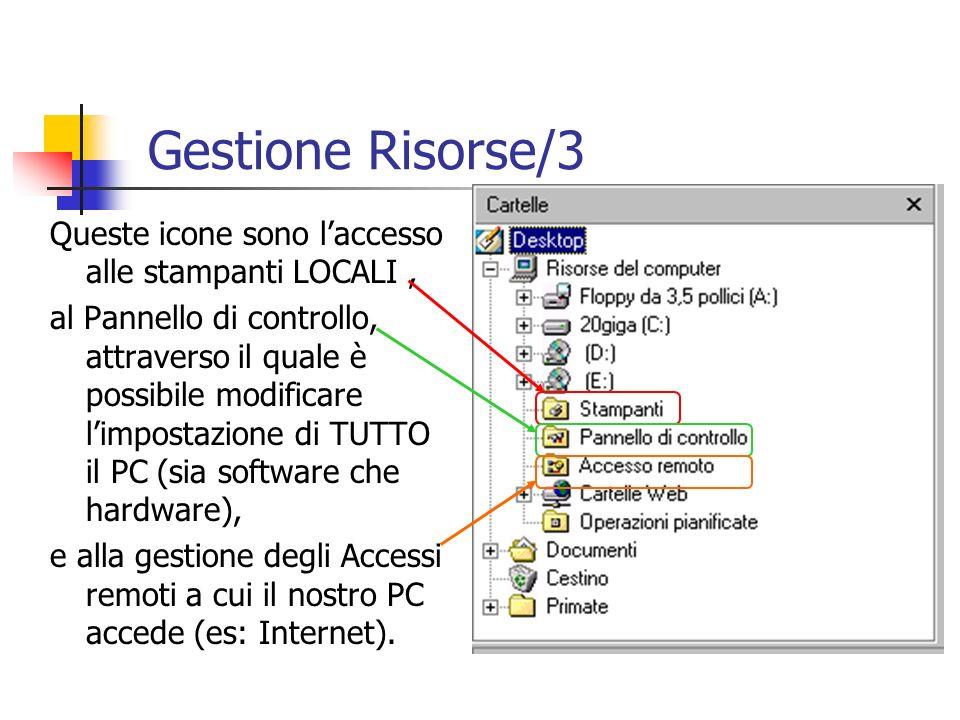 Gestione Risorse/3 Queste icone sono l'accesso alle stampanti LOCALI ,