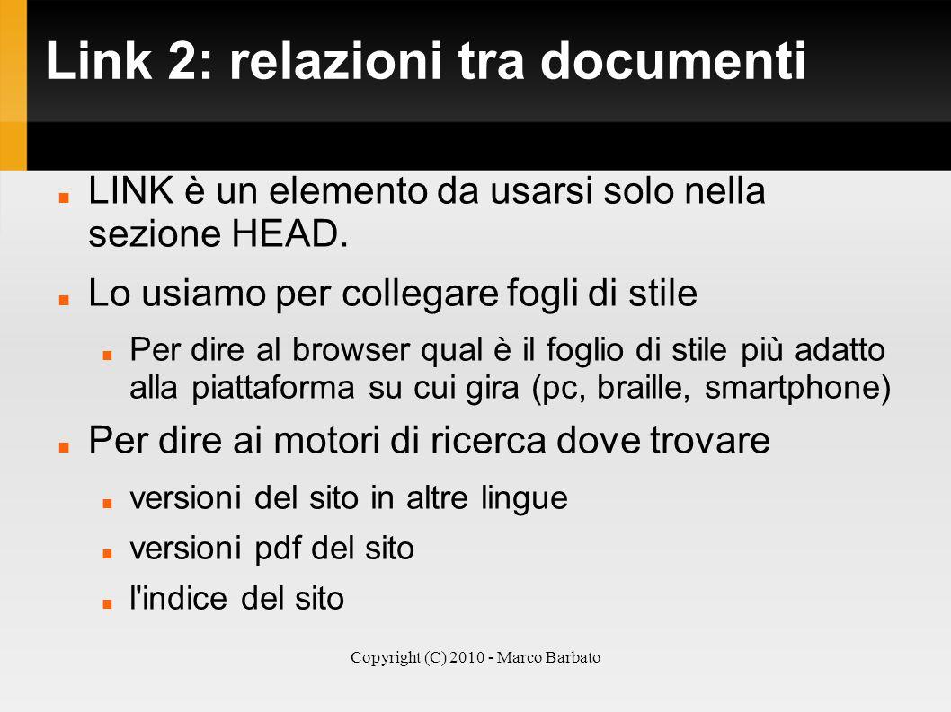 Link 2: relazioni tra documenti