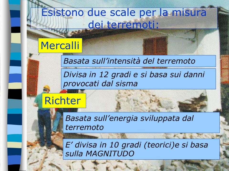 Esistono due scale per la misura dei terremoti: