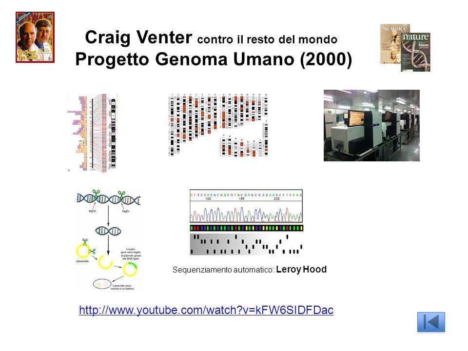 Craig Venter contro il resto del mondo Progetto Genoma Umano (2000)