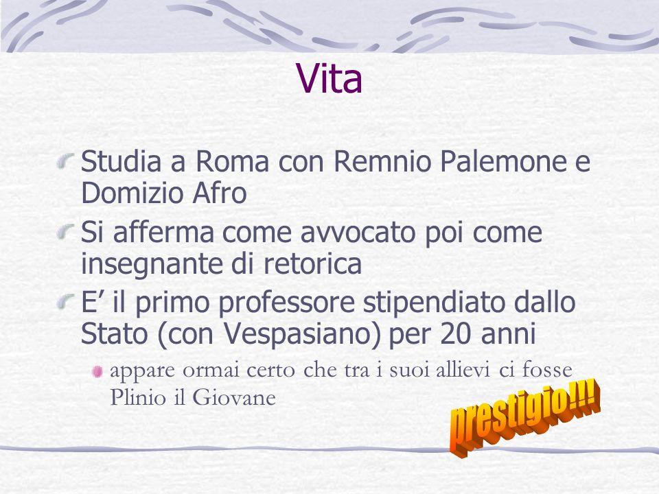 Vita prestigio!!! Studia a Roma con Remnio Palemone e Domizio Afro
