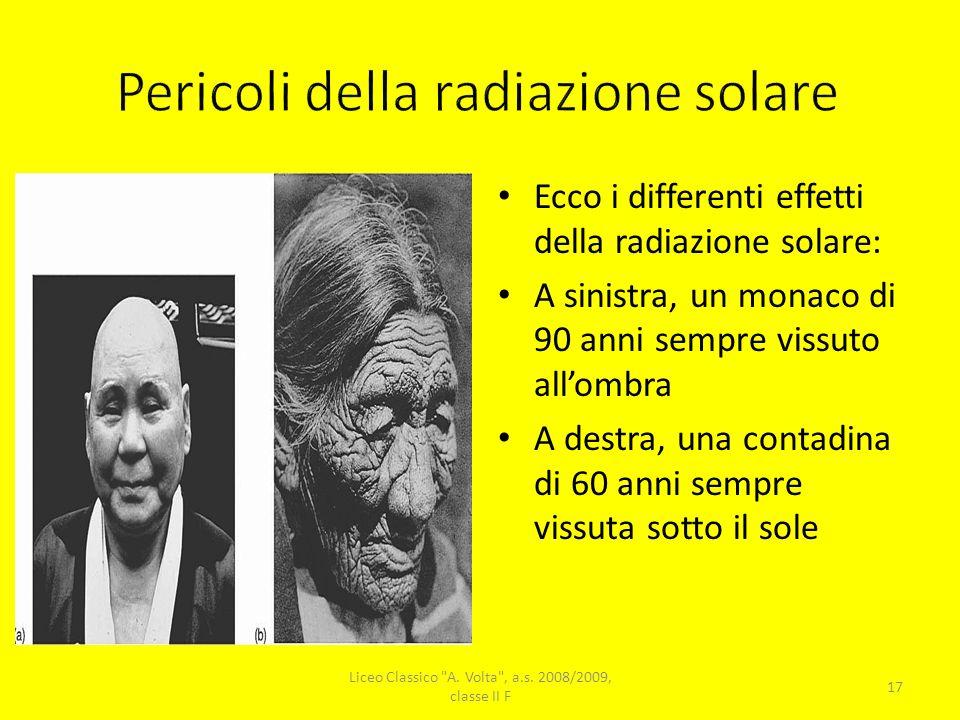 Pericoli della radiazione solare