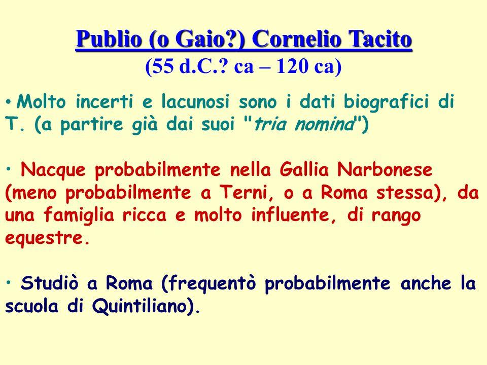 Publio (o Gaio ) Cornelio Tacito