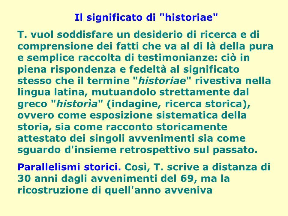 Il significato di historiae