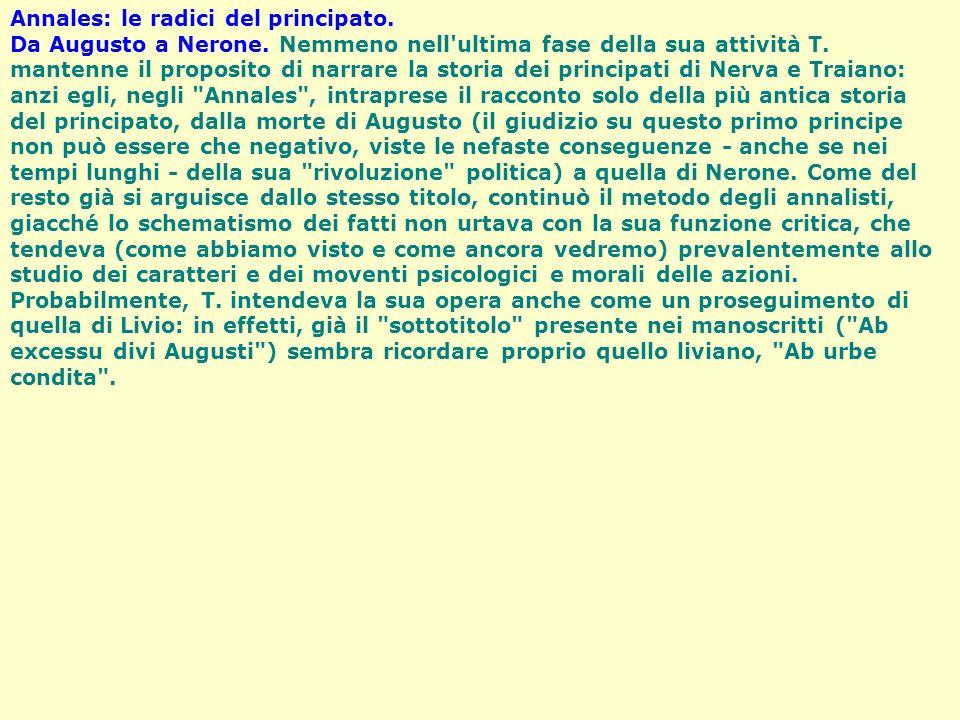 Annales: le radici del principato.