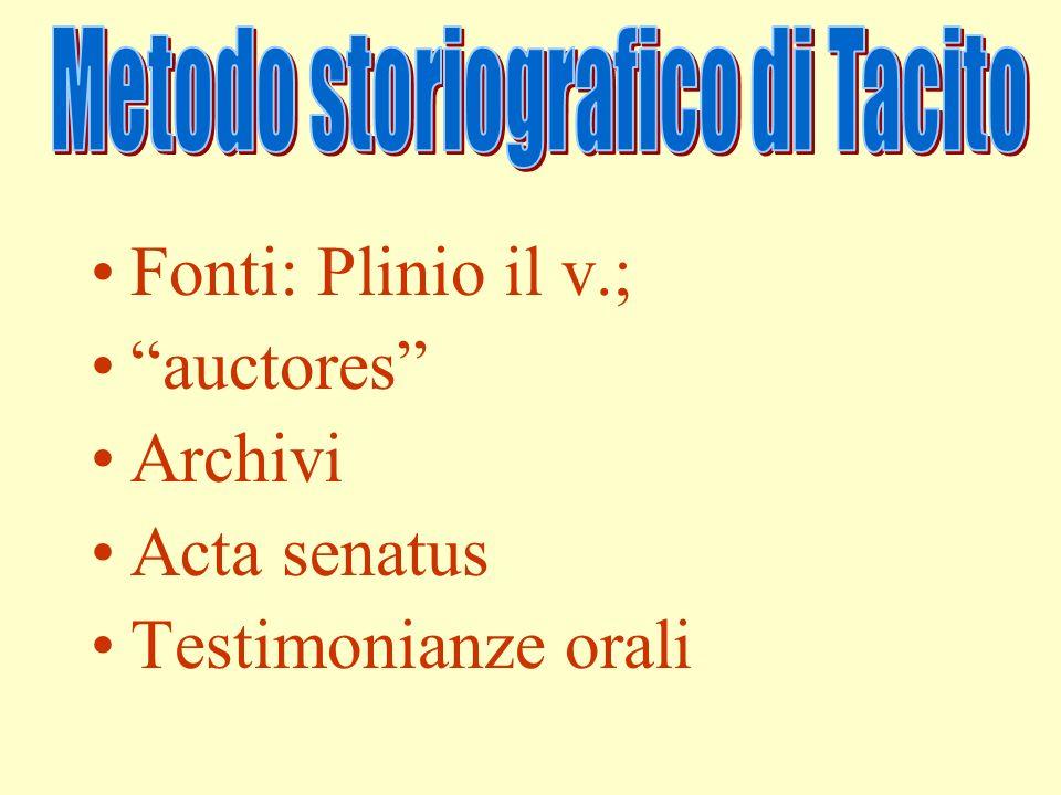 Metodo storiografico di Tacito