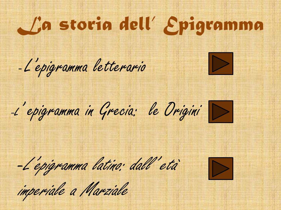 La storia dell' Epigramma