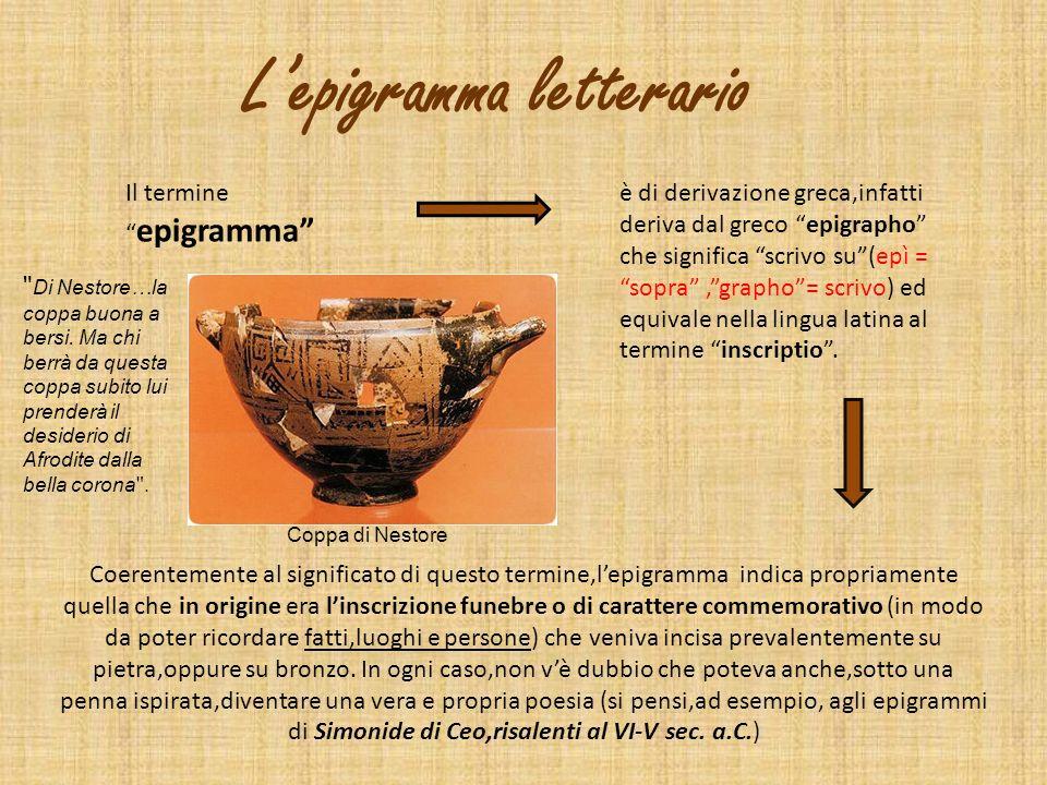 L'epigramma letterario