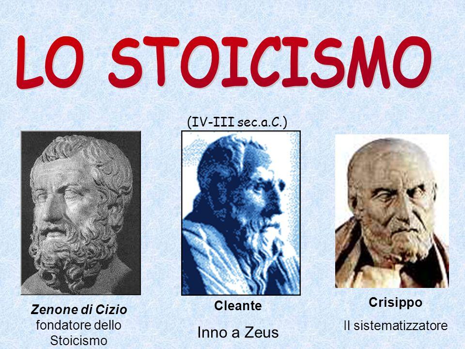 Zenone di Cizio fondatore dello Stoicismo