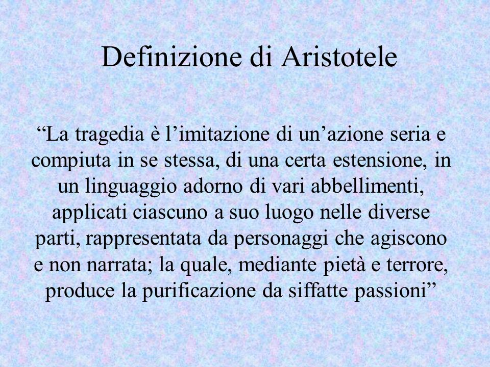 Definizione di Aristotele