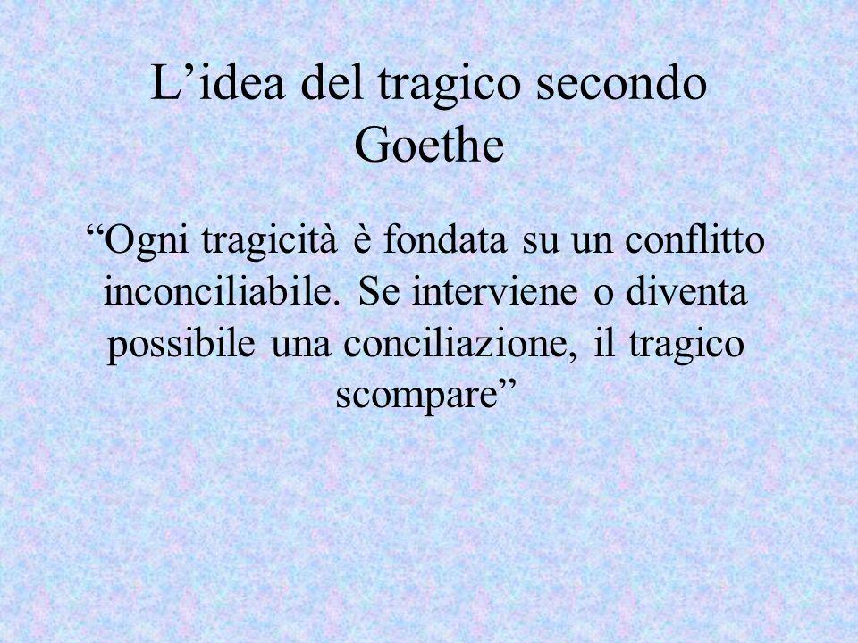 L'idea del tragico secondo Goethe