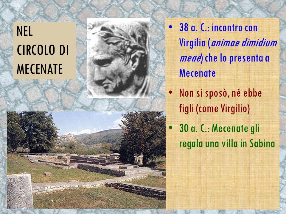 NEL CIRCOLO DI MECENATE