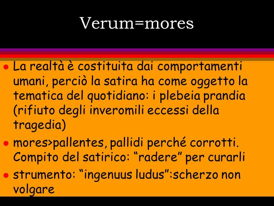 Verum=mores