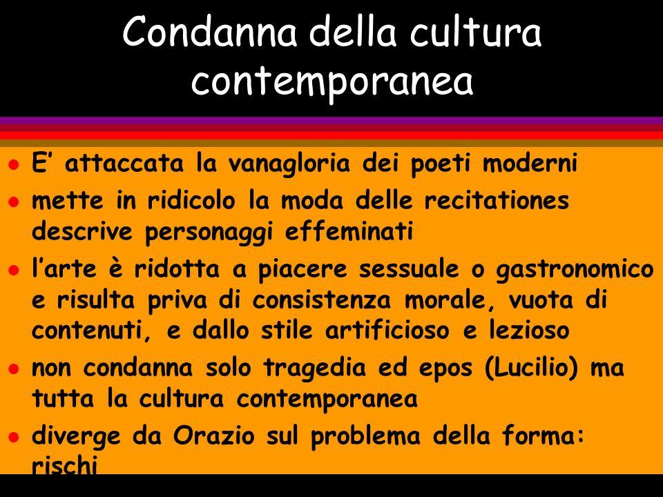 Condanna della cultura contemporanea