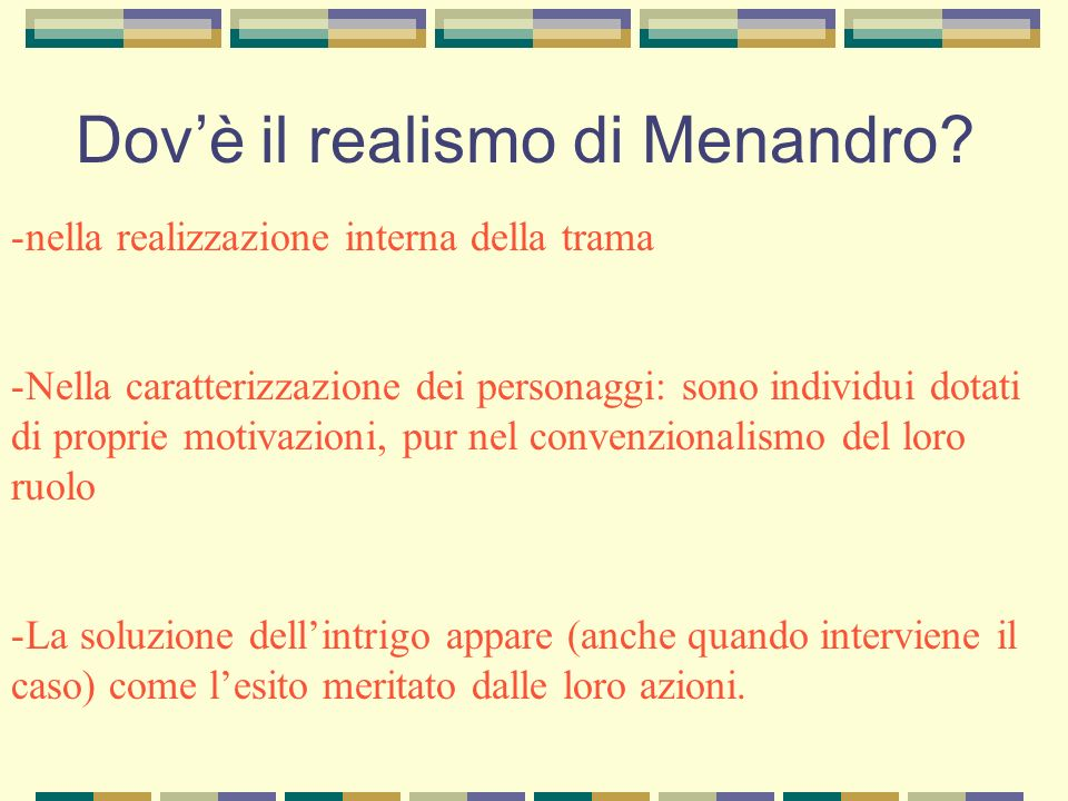 Dov'è il realismo di Menandro