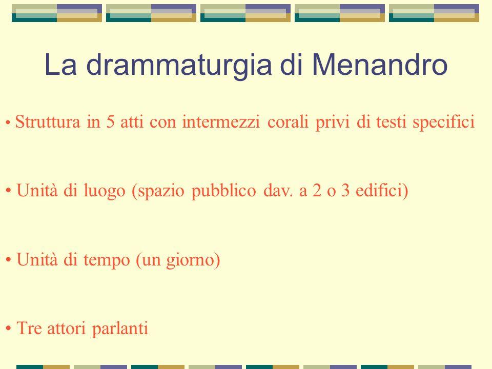 La drammaturgia di Menandro