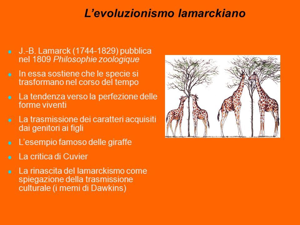 L'evoluzionismo lamarckiano