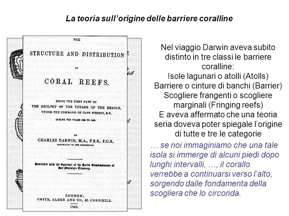 La teoria sull'origine delle barriere coralline