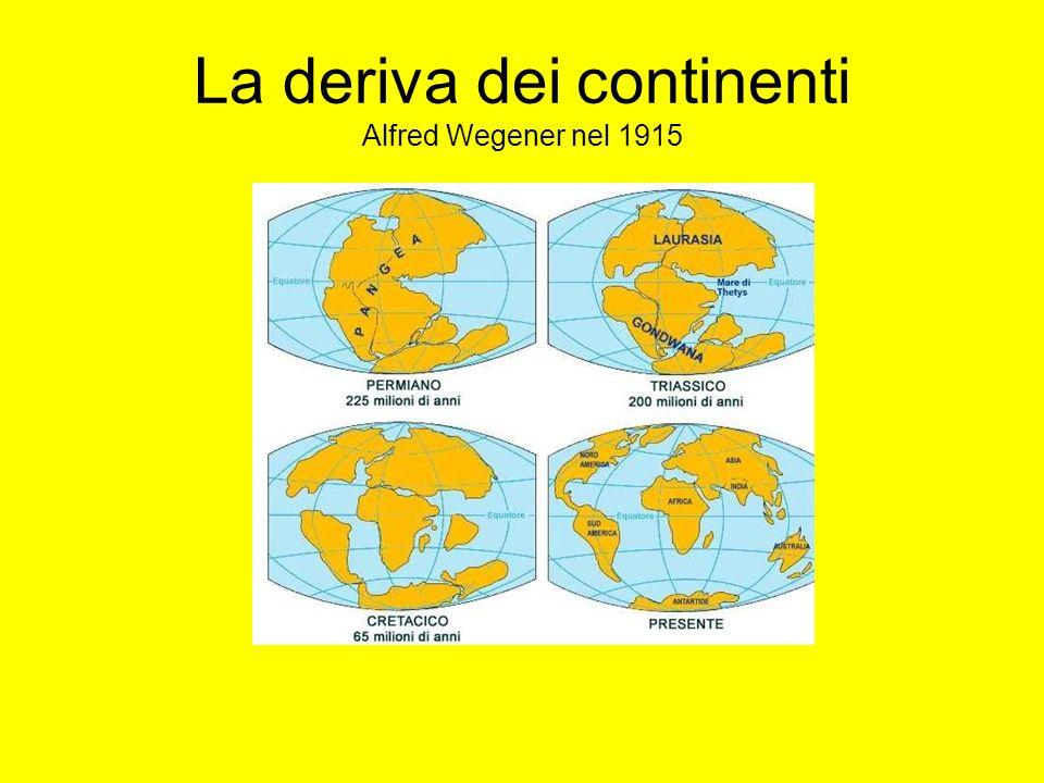La deriva dei continenti Alfred Wegener nel 1915