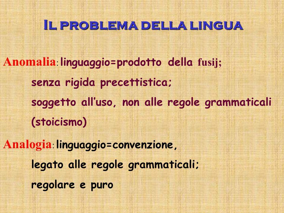 Il problema della lingua