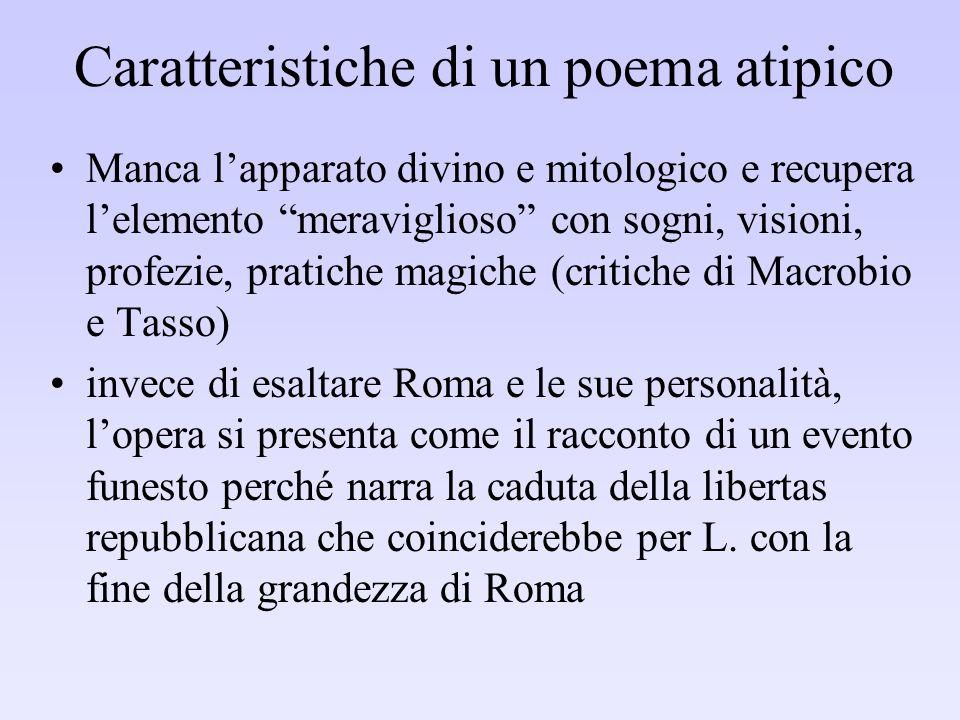 Caratteristiche di un poema atipico