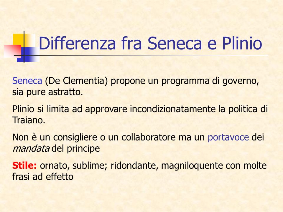 Differenza fra Seneca e Plinio