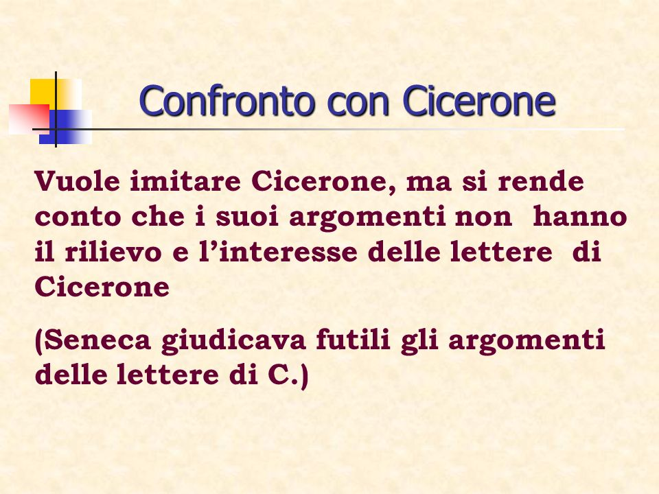 Confronto con Cicerone