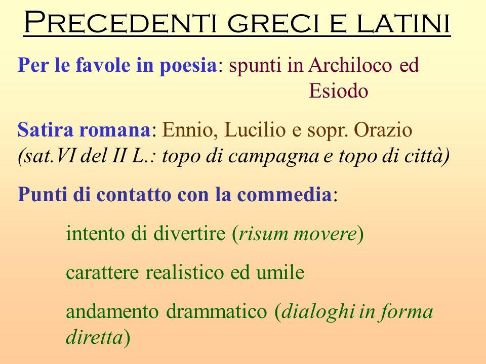 Precedenti greci e latini